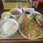 善 - 料理写真:玉子野菜炒め定食 650円