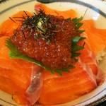 食事処かもきみ - 鮭親子丼