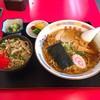 東京飯店 - 料理写真:ラーメンセット(ラーメン+ミニチャーシュー丼)