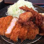 かつ丼玄 - デラックスランチ定食 カツ140g 1140円