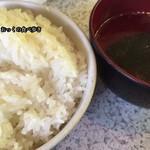 味仙荘 - ライスとわかめスープ