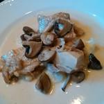 シャンブル・アヴェク・ヴュ - 岩手県産鶏モモ肉のフリカッセ シェリービネガー風味」