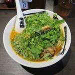 カラシビ味噌らー麺 鬼金棒 - パクチーカラシビ味噌らー麺 麺大盛り