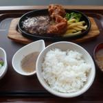 ファイヤーバーグ - '17/11/03 札幌ザンギ&ハンバーグセット(税別840円)