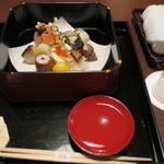 懐石 宿 扇屋 - 料理写真:食前酒:東長 慶紋