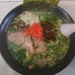 九一麺 - 料理写真:長浜らーめん@750、オプションで青ネギ@100追加