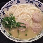 75849404 - 1710_丸亀製麺 Mall Artha Gading_TORIBAITAN UDON@48,000Rp(鶏白湯うどん)