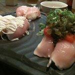 宮がみ屋 - 超裏メニュー!あじわい鷄の握り寿司!