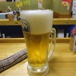 立呑み 龍馬 - 「生ビール」390円也。