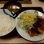 松屋 - 厚切り豚テキ定食 ごはん大盛り