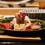 にい留 - ☆イチヂクと柿の白和え