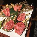 上野太昌園 - 常陸牛5種盛り(6800円)