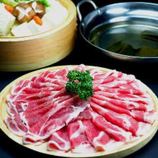 冬も贅沢に味わう!上州麦豚しゃぶしゃぶがお得な3500円!