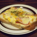 星乃珈琲店 - ハムチーズトースト