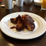 75870634 - 朝食ブッフェのサービスの黒糖フレンチトースト