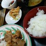 喫茶&お食事 セカンド - ランチパスポート 生姜焼きランチ  500円