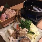 75873261 - 京丹波黒鶏のすき焼き仕立て鍋