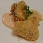Amore - 料理写真:道産白身魚と野菜のパン粉揚げ ソースレムラード