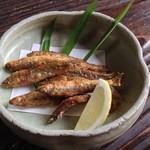 櫟庵 - 稚鮎の天ぷら