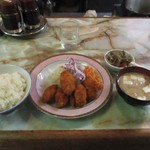 まるやま - 牡蠣フライ定食