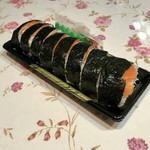 あさり家 - サーモン棒寿司です。