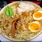 75878351 - ランチセットの中華そば(煮卵入)