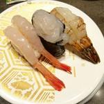 金沢回転寿司 輝らり - 北陸海老三種
