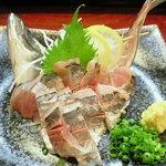 亀ちゃん - 鯵、姿造り(650円)