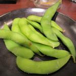 豊来軒 - 2 茹で立て枝豆