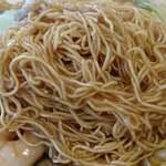 広東名菜 富徳 - 広東名菜 富徳 @外苑前 ランチ 八珍炒麺に使われる細焼きそば麺
