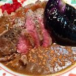 ふくてい - ダブルステーキカレー@980円+茄子トッピング@150円   ちゃんと美味い!ものスゲーコスパ!