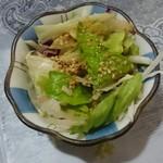 らーめん味処大千 - Aセット900円のサラダ