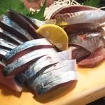 かわなみ鮨 - 〆鯖、秋刀魚刺身