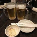 和み家 魚えん - 和み家 魚えん(東京都千代田区内神田)エビス生ビール250円