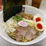 煮干しらーめん 玉五郎  - 【(限定) 旨辛煮干しまぜそば(並) + 味付け玉子】¥850 + ¥100