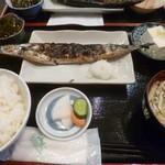 かあちゃん - '17/11/04 さんま焼定食(税込710円)