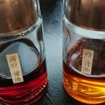 北陸旬鮮 北の旬 - 白海老のお刺身はこの二種類のお醤油でいただきました。