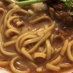 中華蕎麦 とみ田 - 心の味製麺の平打ち麺(松戸モリヒロフェスタ)