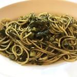 75901164 - シラスとズッキーニのジェノベーゼソースのスパゲッティ