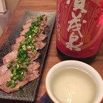 とれたれ元気市 - タンの塩焼きと日本酒だっ!
