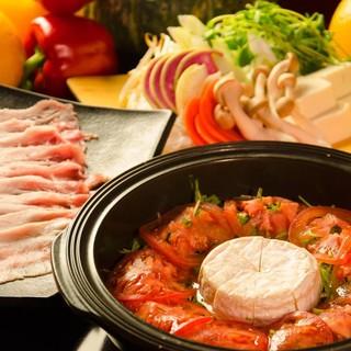 お野菜とお鍋が楽しめるディナータイム♪