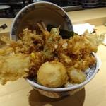 天丼まきの - 天丼「ロ」(1,190円)