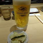 天丼まきの - 生ビール(470円)