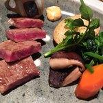 ざくろ - 国産牛ロース 香り醤油ステーキ