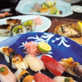 明石の魚、米、わさび、塩、酢にまでこだわっております。
