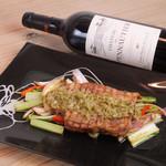 ニジイロ Dining,Cafe&Bar - 岩中豚のグリル 玉ねぎとコルニッションのソース
