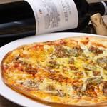 ニジイロ Dining,Cafe&Bar - ハラペーニョとひき肉のチーズピザ