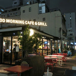 Good Morning Cafe&Grill  - テラス半分を入れた全景