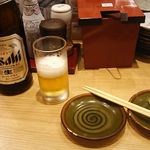 回転寿司がんこ - 中瓶ビール 518円 2017年11月