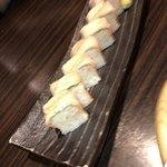 75914270 - サーモン炙り棒寿司。
